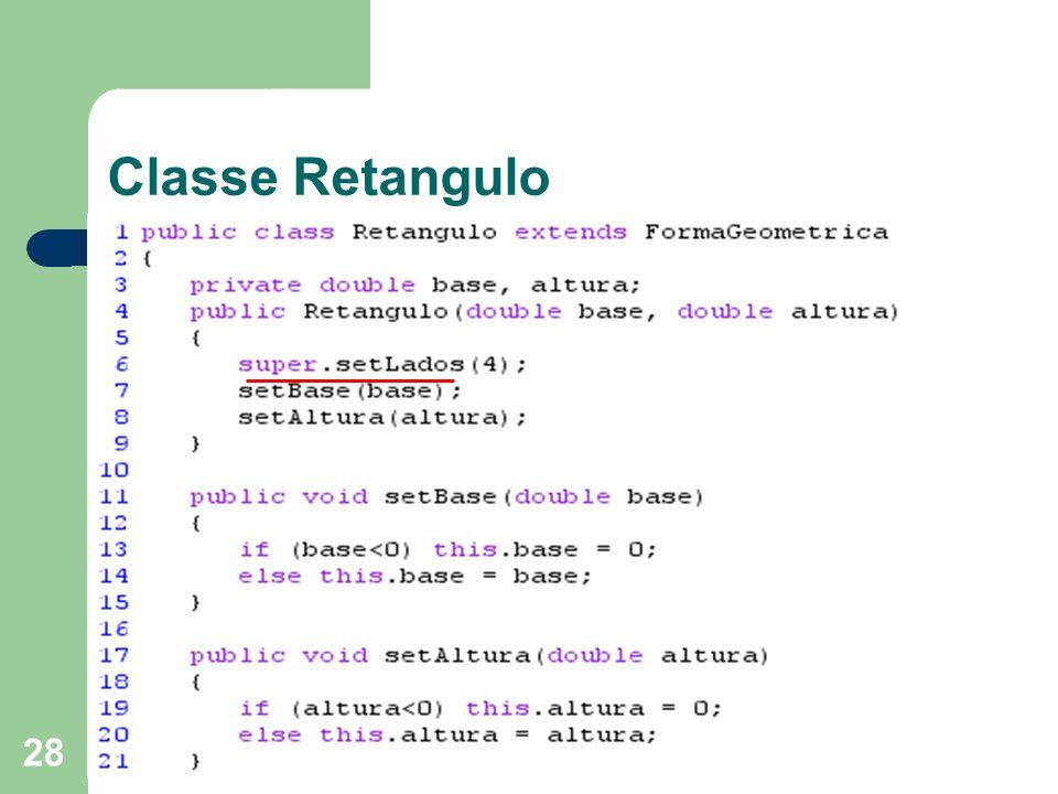 Classe Retangulo