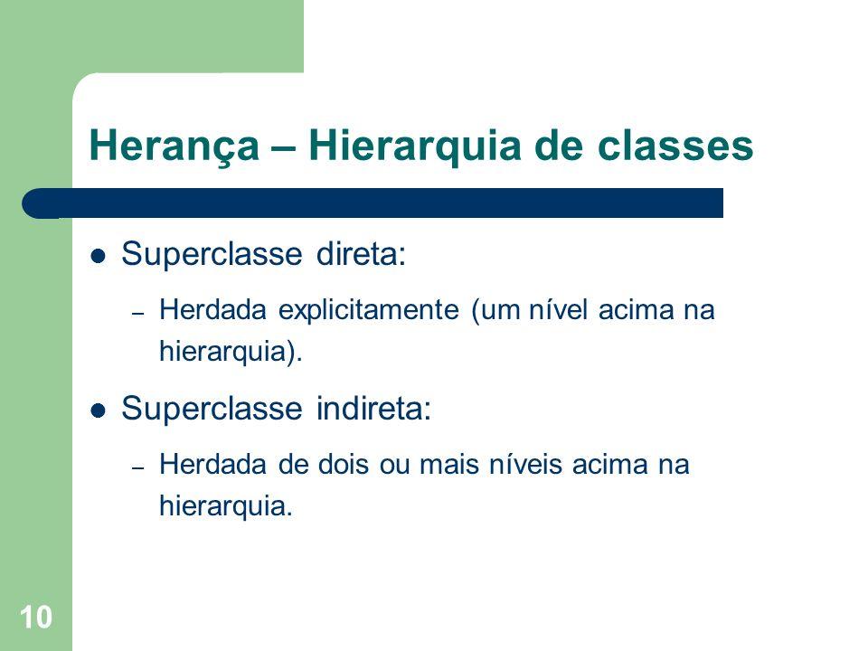 Herança – Hierarquia de classes