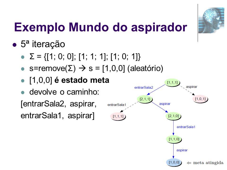 Exemplo Mundo do aspirador