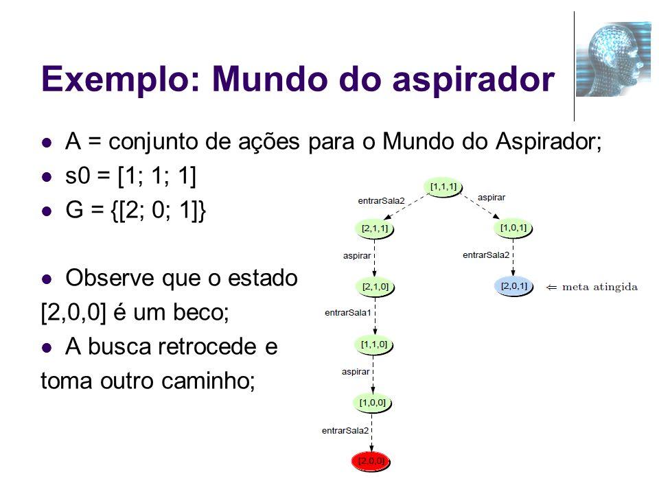 Exemplo: Mundo do aspirador