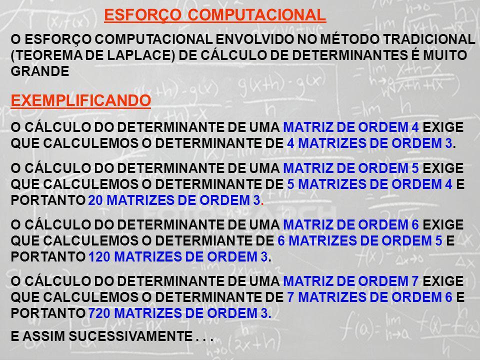 ESFORÇO COMPUTACIONAL