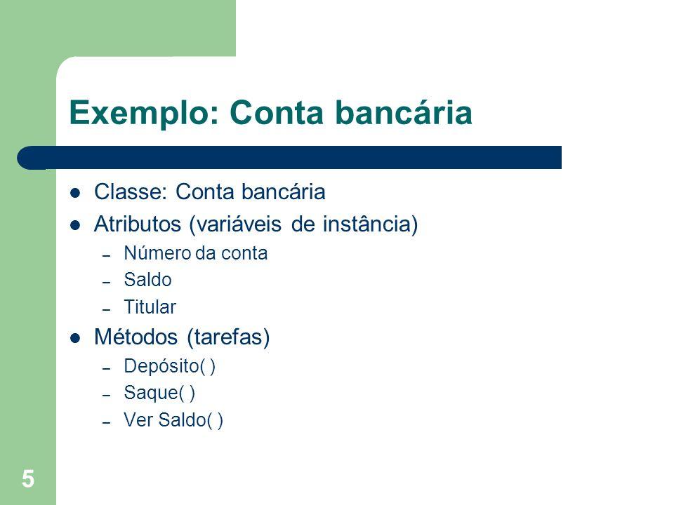 Exemplo: Conta bancária