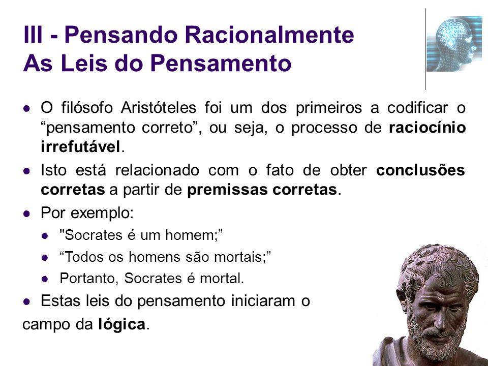 III - Pensando Racionalmente As Leis do Pensamento