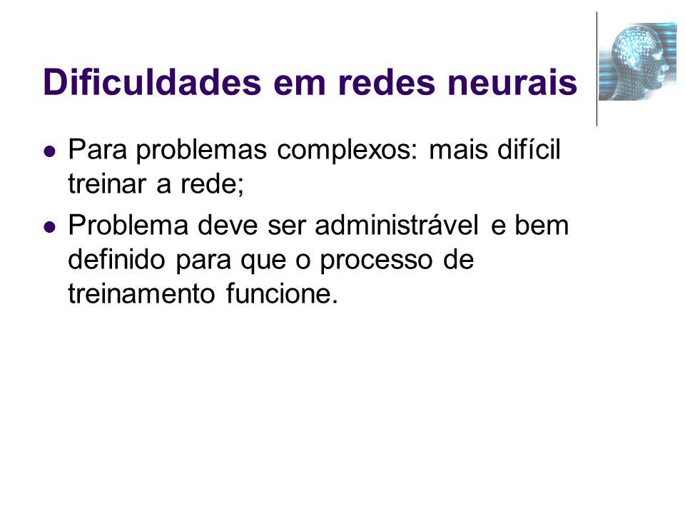 Dificuldades em redes neurais