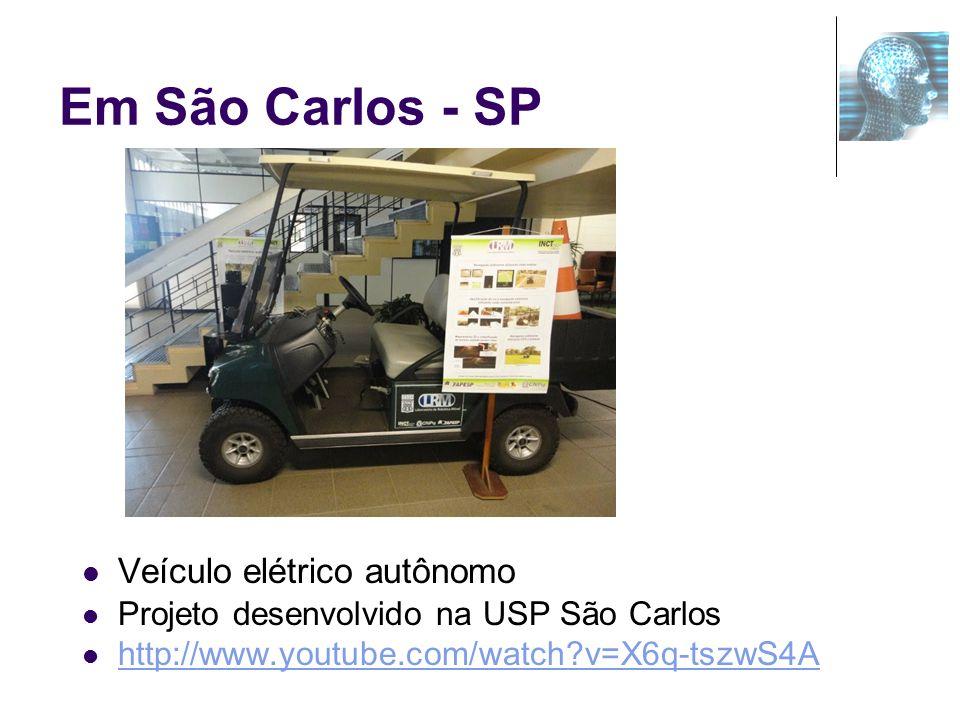 Em São Carlos - SP Veículo elétrico autônomo