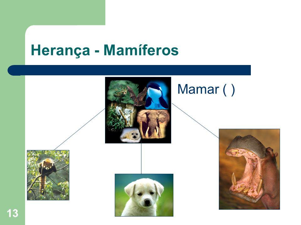 Herança - Mamíferos Mamar ( )