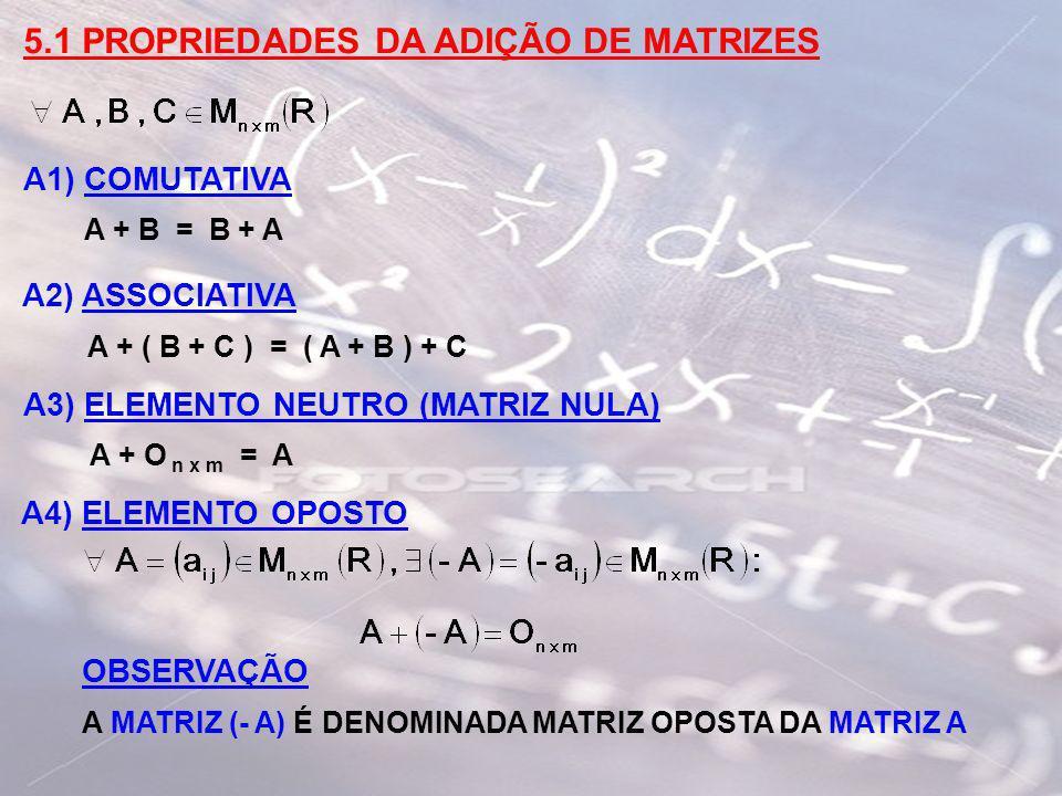 5.1 PROPRIEDADES DA ADIÇÃO DE MATRIZES