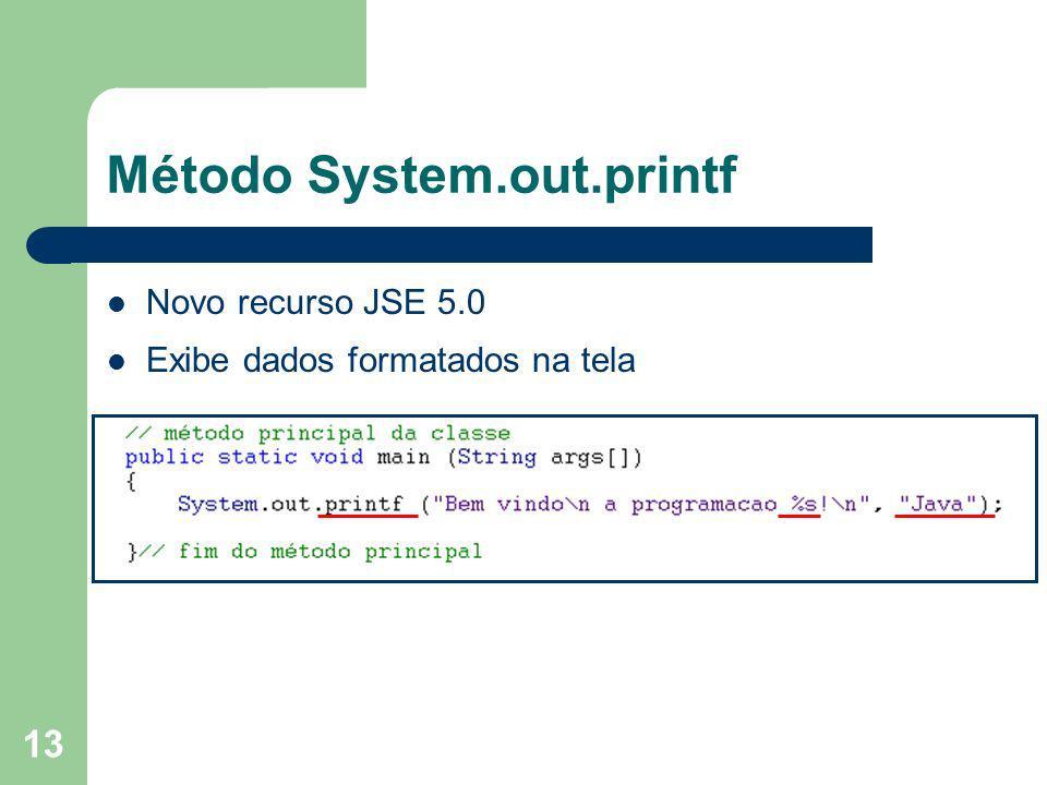 Método System.out.printf