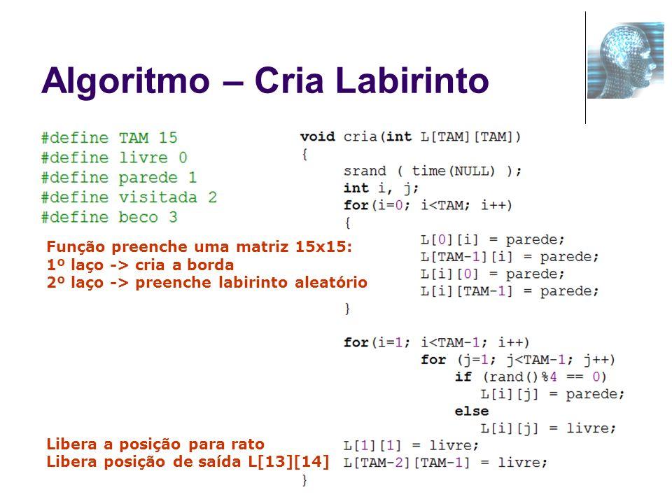 Algoritmo – Cria Labirinto