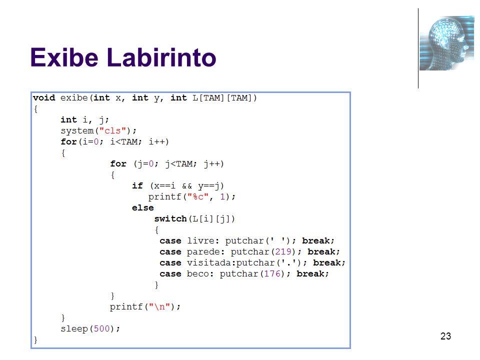 Exibe Labirinto