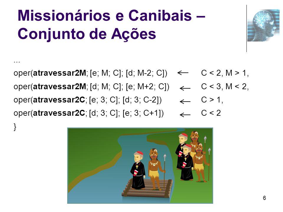 Missionários e Canibais – Conjunto de Ações