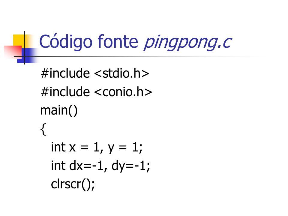 Código fonte pingpong.c
