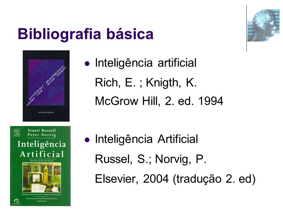 Bibliografia básica Inteligência artificial Rich, E. ; Knigth, K.