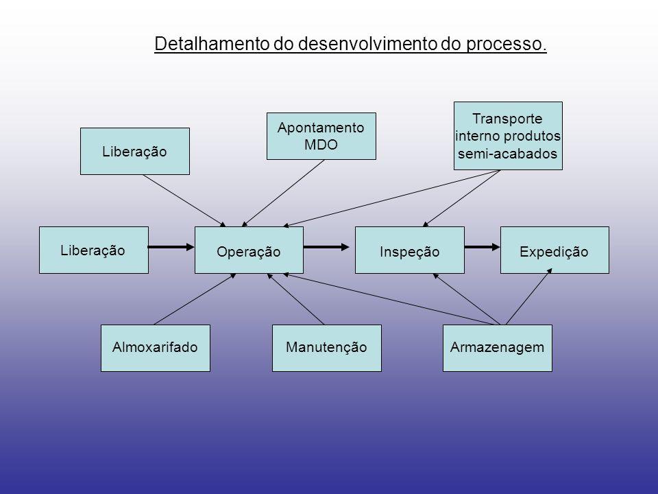 Detalhamento do desenvolvimento do processo.