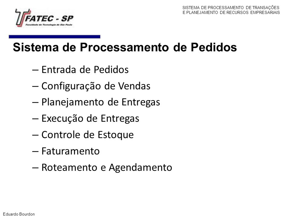 Sistema de Processamento de Pedidos