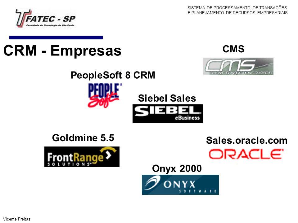 CRM - Empresas CMS PeopleSoft 8 CRM Siebel Sales Goldmine 5.5