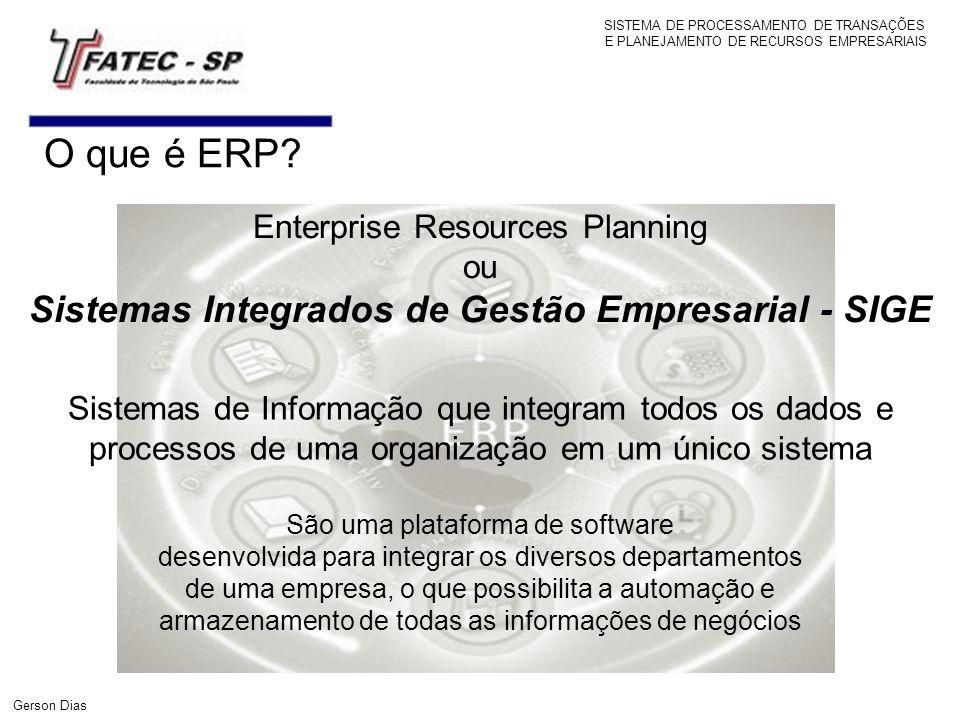 Sistemas Integrados de Gestão Empresarial - SIGE