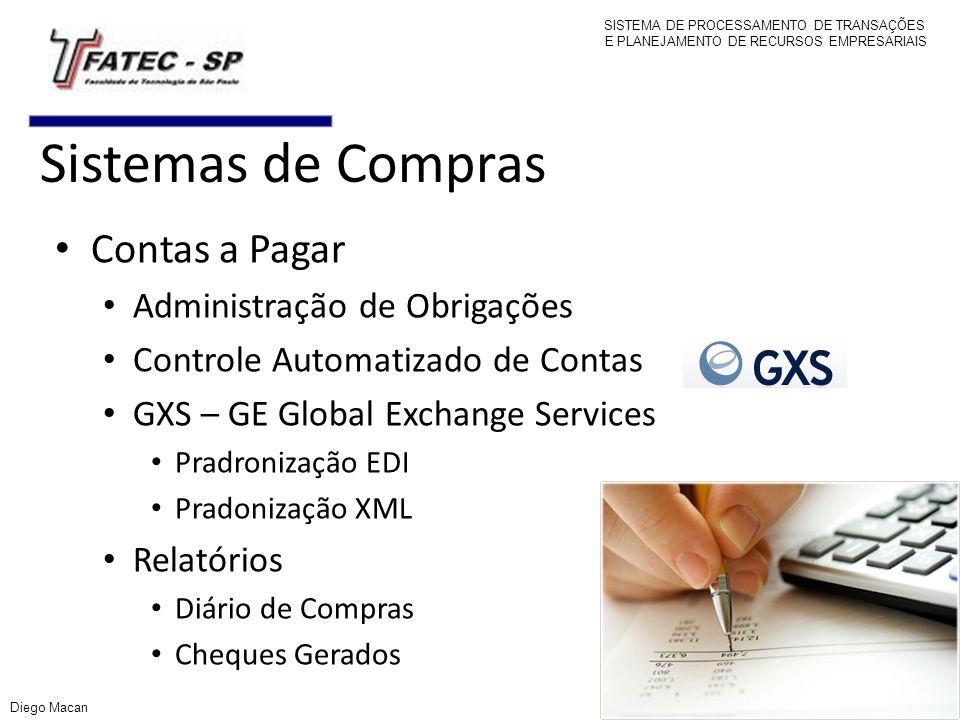 Sistemas de Compras Contas a Pagar Administração de Obrigações