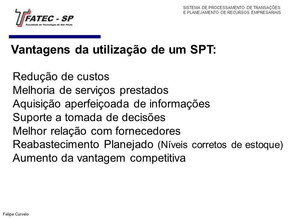 Vantagens da utilização de um SPT: