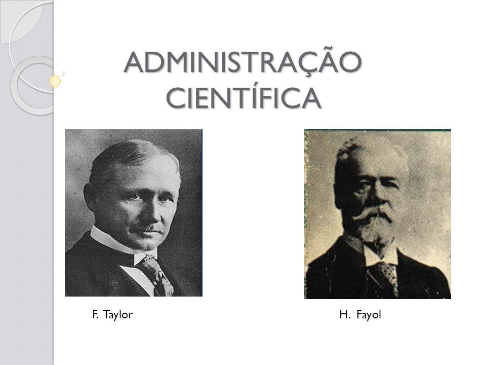 ADMINISTRAÇÃO CIENTÍFICA