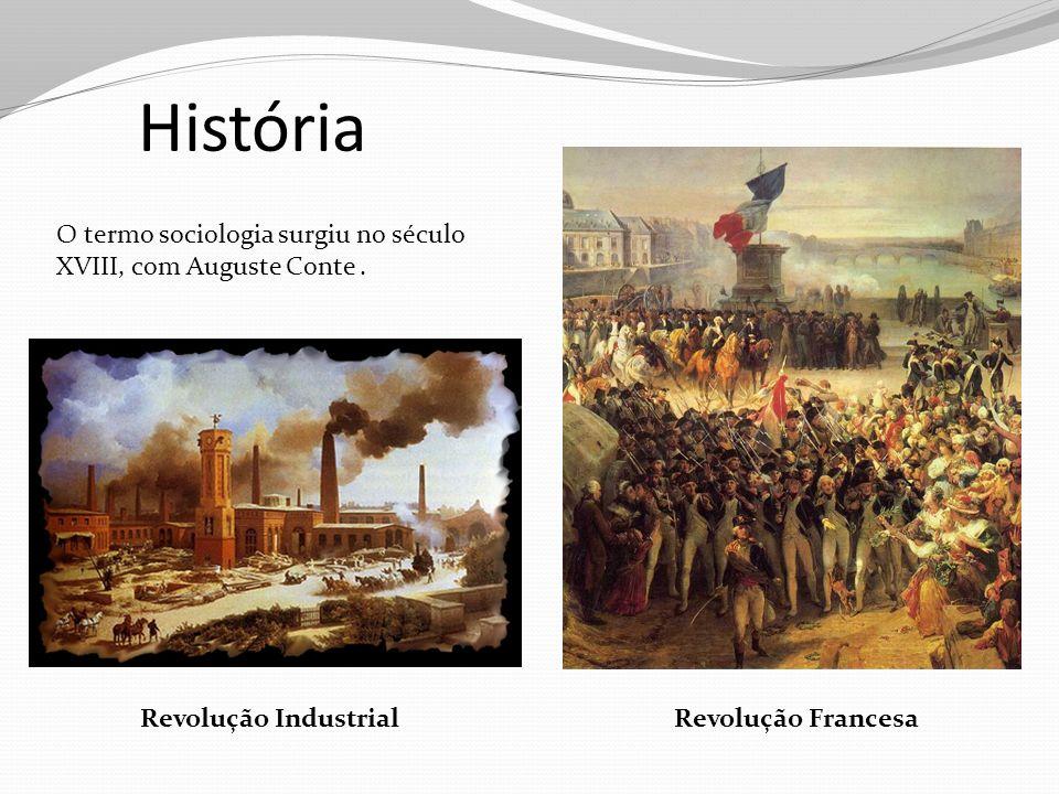 História O termo sociologia surgiu no século XVIII, com Auguste Conte .