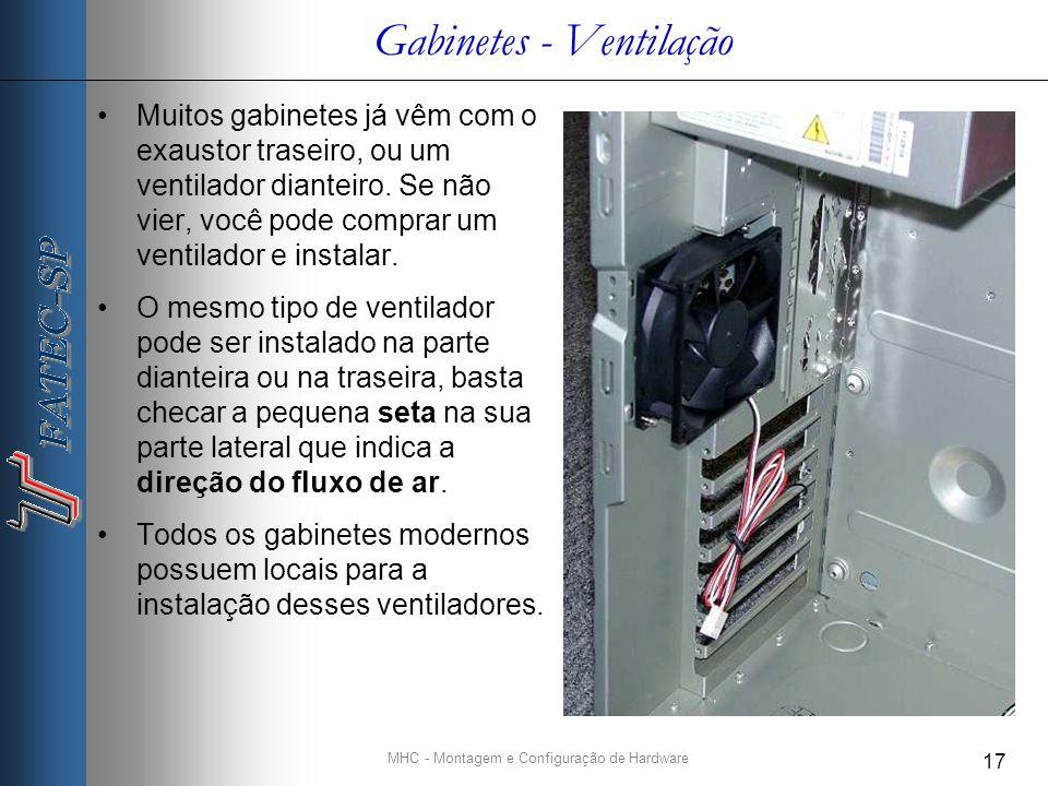 Gabinetes - Ventilação