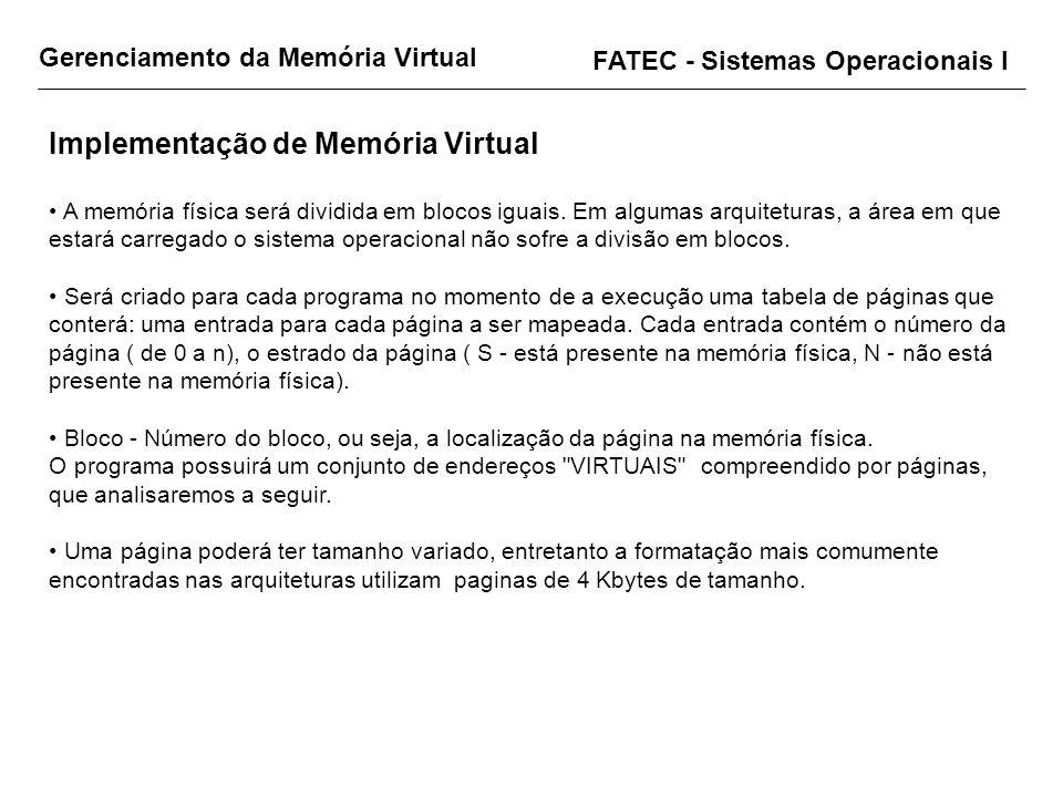 Implementação de Memória Virtual
