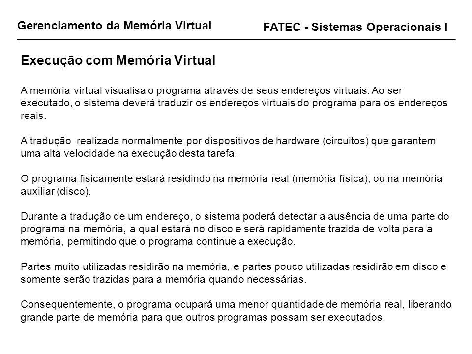 Execução com Memória Virtual