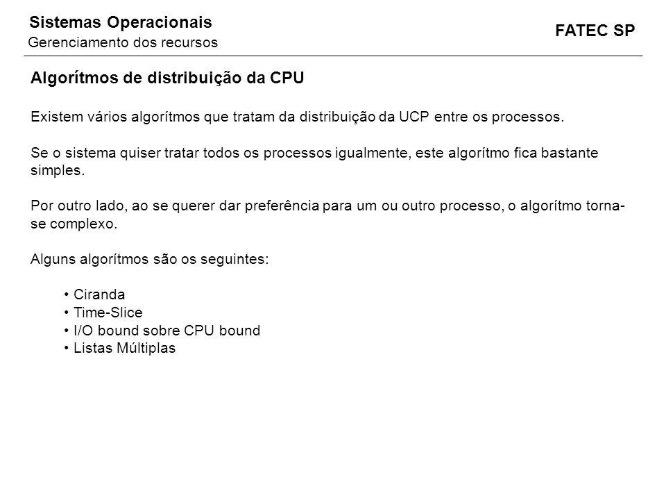 Algorítmos de distribuição da CPU