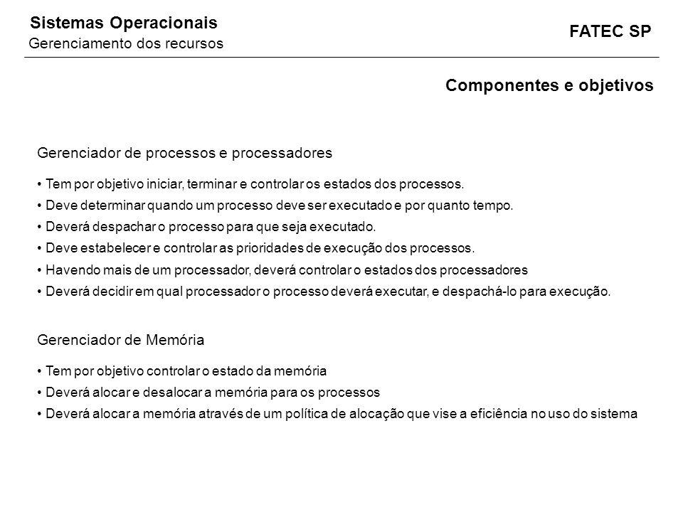 Componentes e objetivos