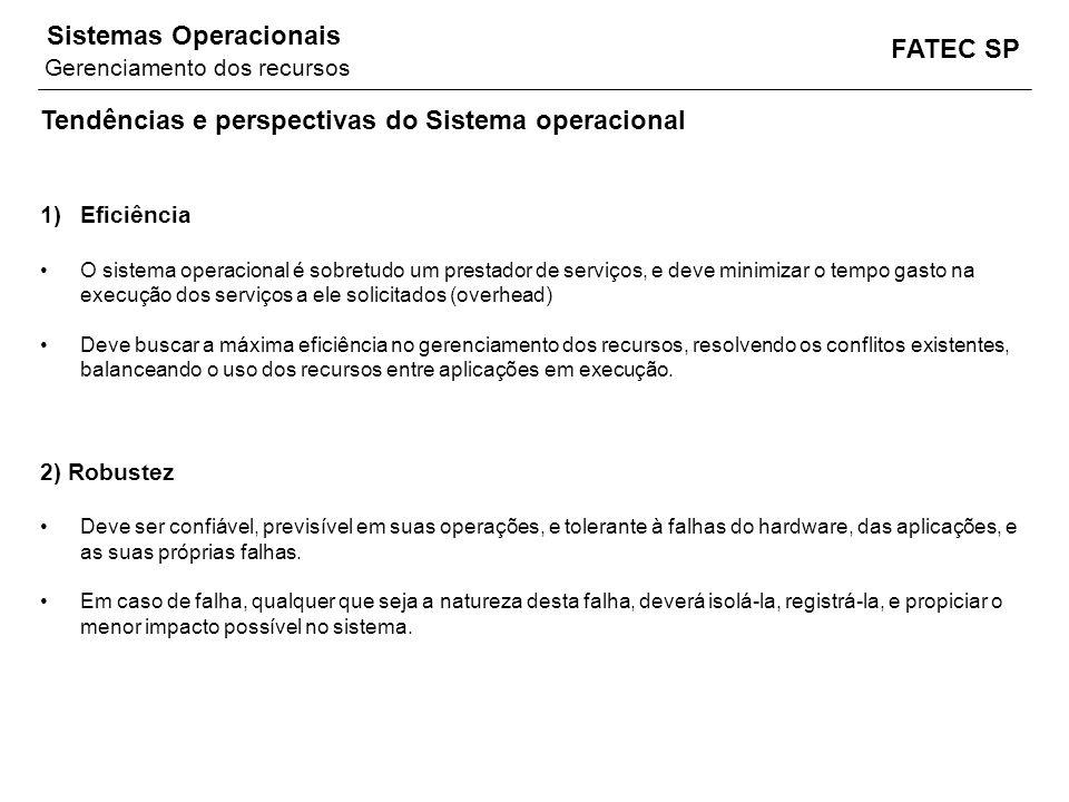 Tendências e perspectivas do Sistema operacional
