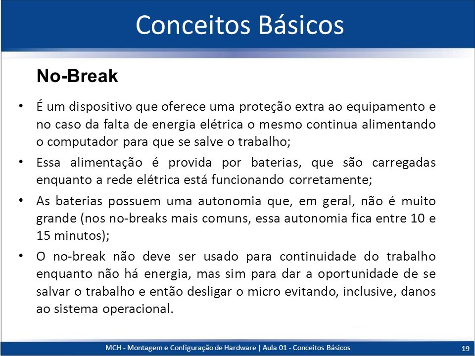 Conceitos Básicos No-Break