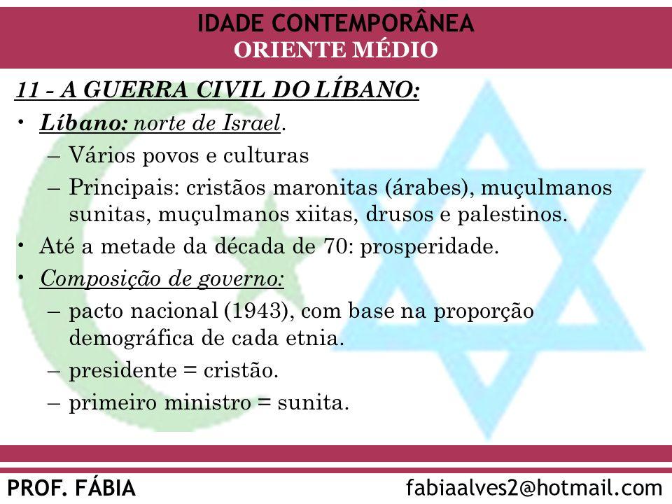 11 - A GUERRA CIVIL DO LÍBANO:
