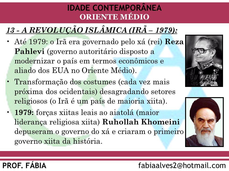 13 - A REVOLUÇÃO ISLÂMICA (IRÃ – 1979):