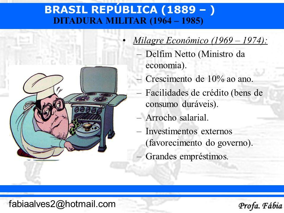 Milagre Econômico (1969 – 1974):