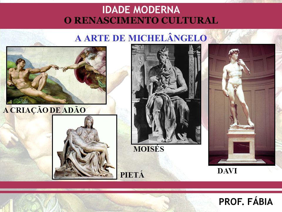A ARTE DE MICHELÂNGELO A CRIAÇÃO DE ADÃO MOISÉS DAVI PIETÁ