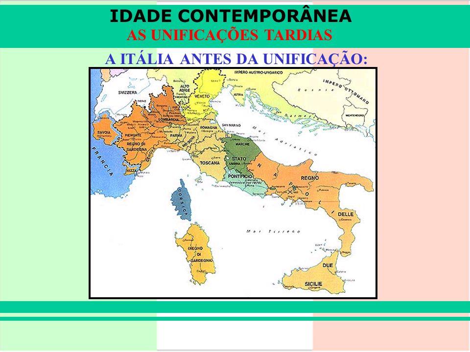 A ITÁLIA ANTES DA UNIFICAÇÃO: