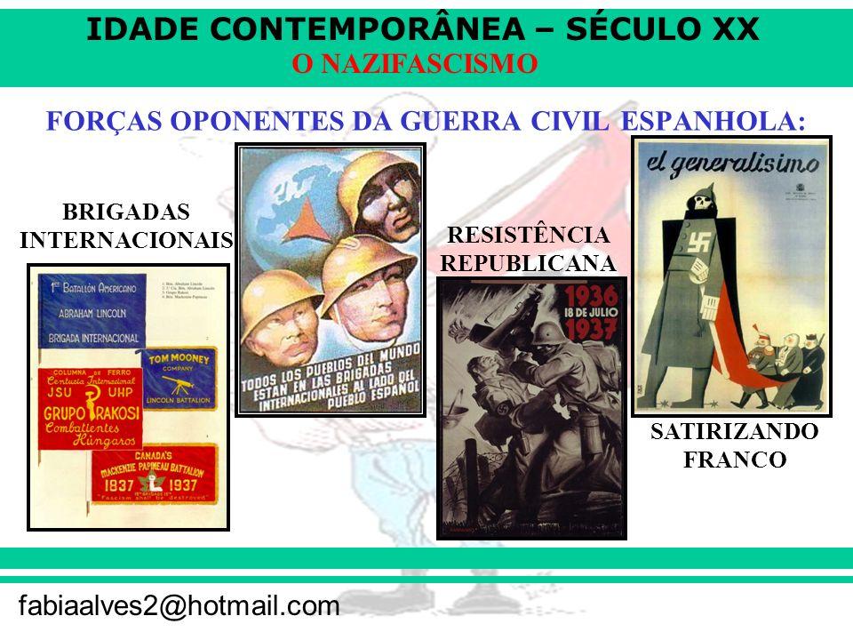 FORÇAS OPONENTES DA GUERRA CIVIL ESPANHOLA: RESISTÊNCIA REPUBLICANA