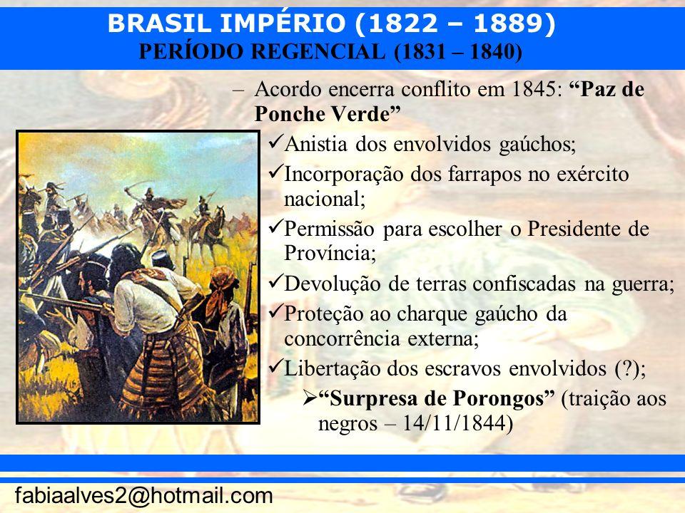 Acordo encerra conflito em 1845: Paz de Ponche Verde