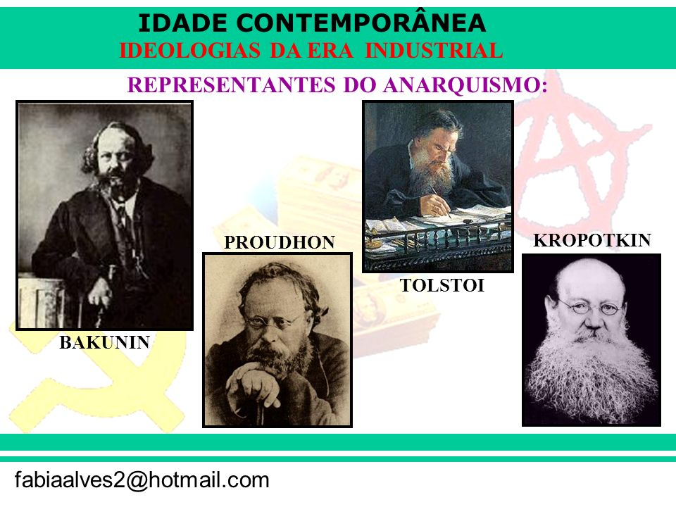 REPRESENTANTES DO ANARQUISMO: