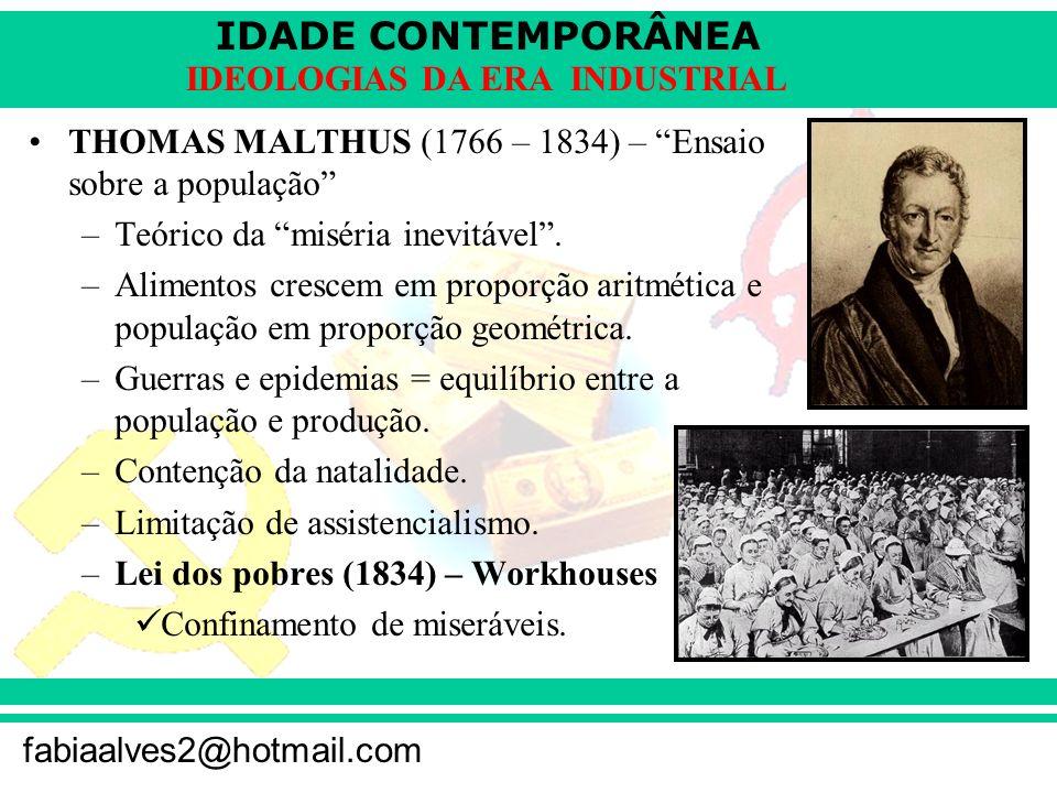 THOMAS MALTHUS (1766 – 1834) – Ensaio sobre a população