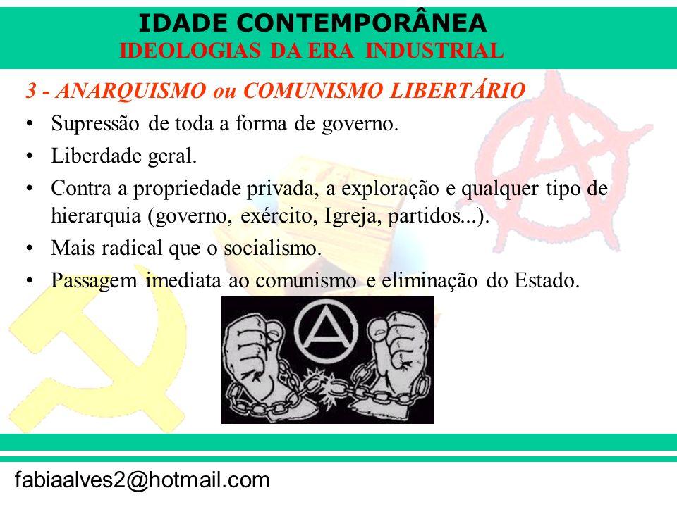 3 - ANARQUISMO ou COMUNISMO LIBERTÁRIO