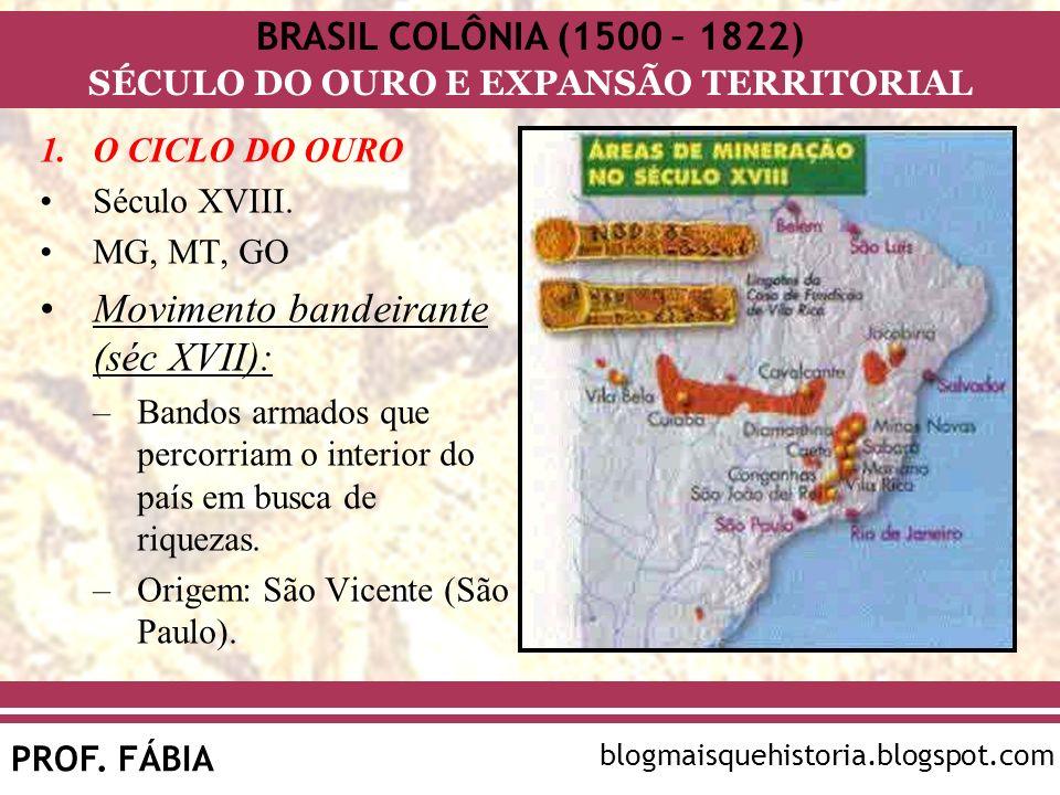 Movimento bandeirante (séc XVII):