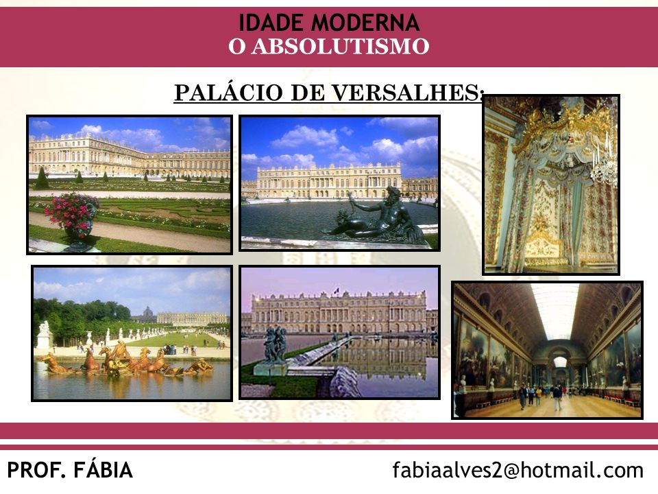 PALÁCIO DE VERSALHES: