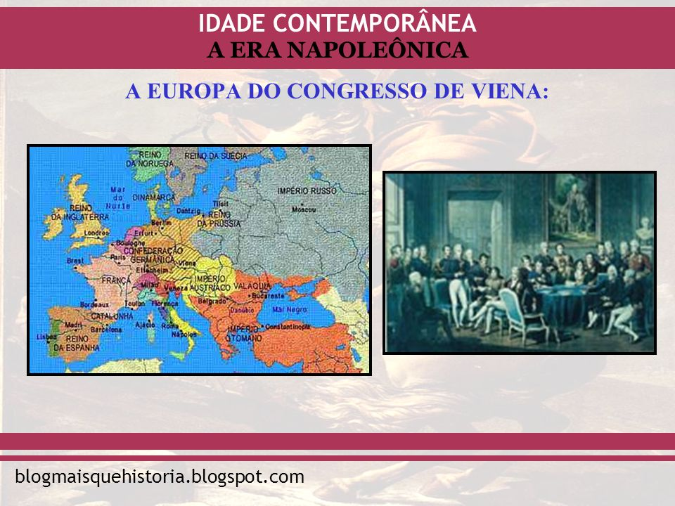 A EUROPA DO CONGRESSO DE VIENA: