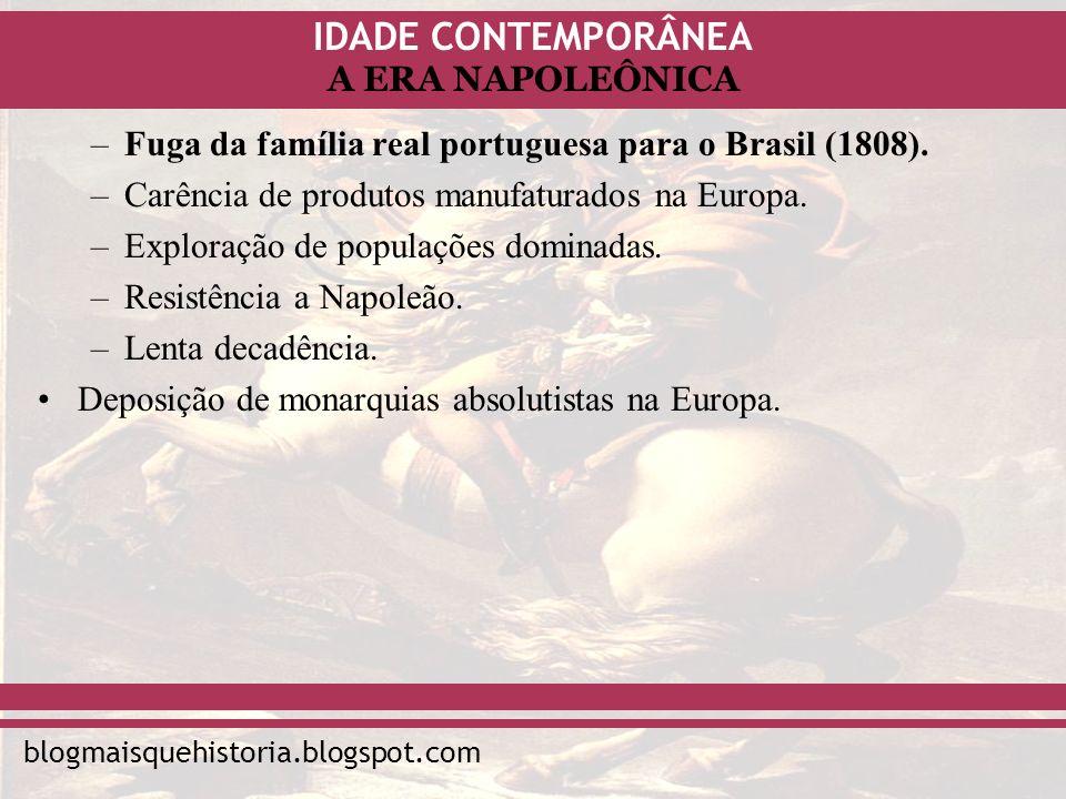 Fuga da família real portuguesa para o Brasil (1808).