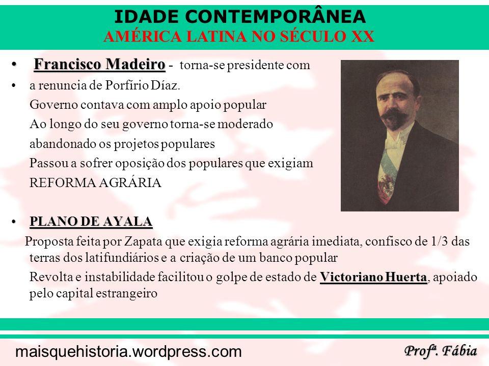 Francisco Madeiro - torna-se presidente com