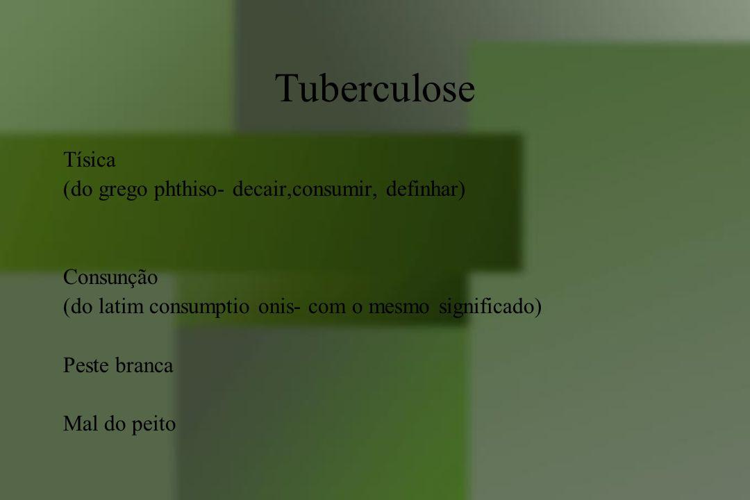 Tuberculose Tísica (do grego phthiso- decair,consumir, definhar)