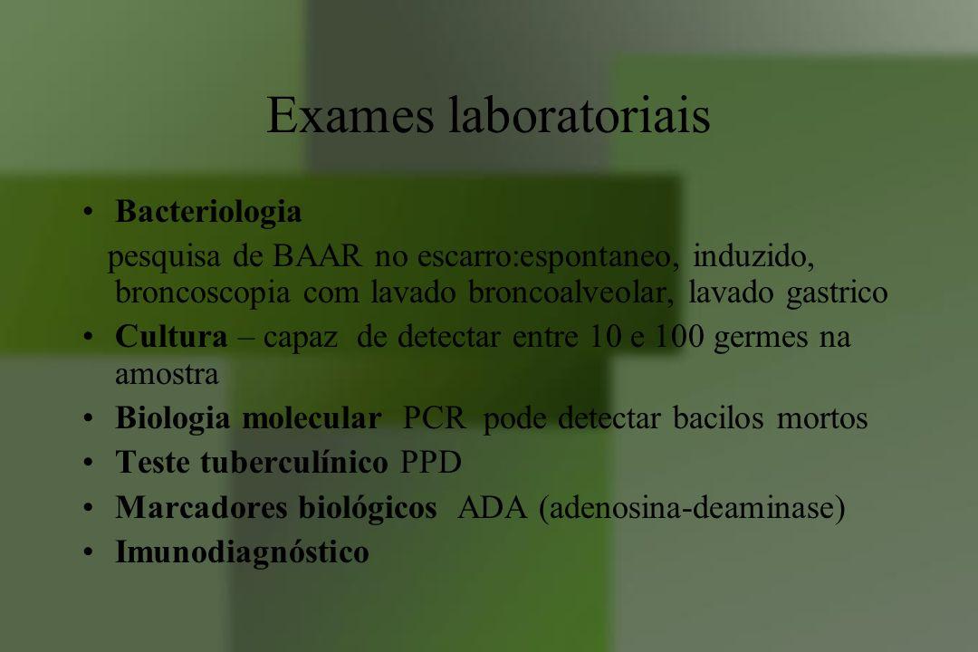 Exames laboratoriais Bacteriologia