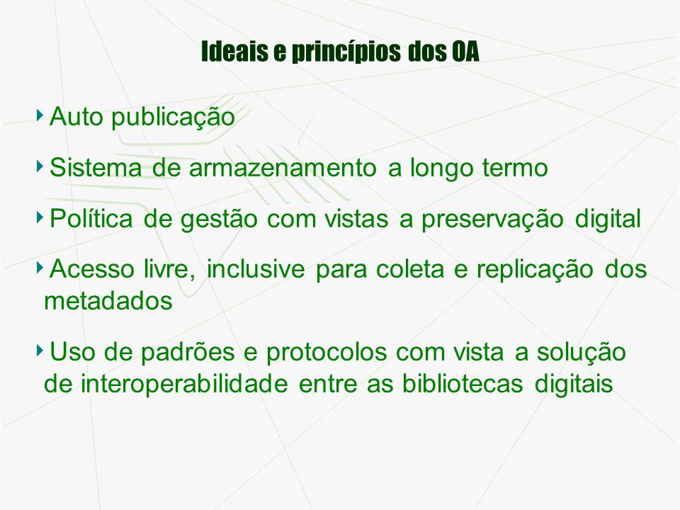 Ideais e princípios dos OA